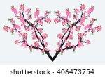 full bloom sakura flower... | Shutterstock .eps vector #406473754