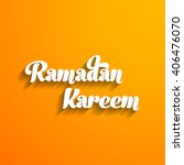 illustration of ramadan kareem... | Shutterstock .eps vector #406476070
