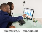 african american business man... | Shutterstock . vector #406480330