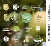 set of hand drawn style badges... | Shutterstock .eps vector #406485370