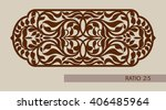 floral ornament. template... | Shutterstock .eps vector #406485964