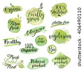 hand drawn watercolor labels... | Shutterstock .eps vector #406490110