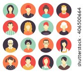 set of colorful avatar icons... | Shutterstock .eps vector #406500664