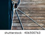 Rope And Old Boards Background...