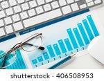 preparing average sales report | Shutterstock . vector #406508953