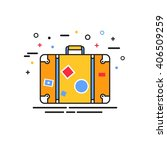 suitcase flat icon. vector eps... | Shutterstock .eps vector #406509259