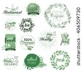 organic food labels and... | Shutterstock .eps vector #406509730