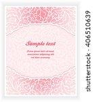 floral invitation card | Shutterstock .eps vector #406510639