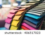 colorful upholstery fabric...