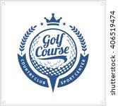 golf club logo for golf... | Shutterstock .eps vector #406519474