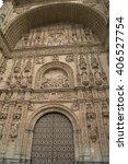 facade of san esteban convent ... | Shutterstock . vector #406527754