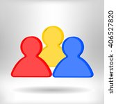 group of people vector icon  | Shutterstock .eps vector #406527820