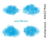 painted soft blue clouds vector ... | Shutterstock .eps vector #406527964