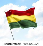 flag of bolivia raised up in... | Shutterstock . vector #406528264