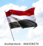 flag of syria raised up in the... | Shutterstock . vector #406528270