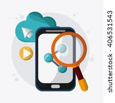 seo icons  technology related ... | Shutterstock .eps vector #406531543