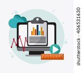 seo icons  technology related ... | Shutterstock .eps vector #406531630