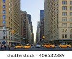 crossroad on 6th avenue in...   Shutterstock . vector #406532389