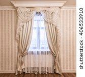 window decoration curtains | Shutterstock . vector #406533910