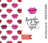 double sided modern greeting... | Shutterstock .eps vector #406535380