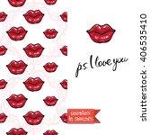 double sided modern greeting... | Shutterstock .eps vector #406535410