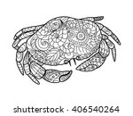 Crab Sea Animal Coloring Book...