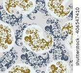 seamless pattern with paisley.   Shutterstock . vector #406547410
