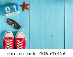 august 1st. image of august 1... | Shutterstock . vector #406549456