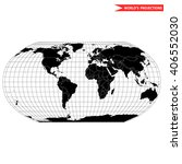 robinson map projection of a... | Shutterstock .eps vector #406552030