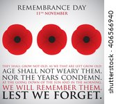 Remembrance Day Card In Vector...