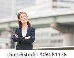 beautiful young asian... | Shutterstock . vector #406581178