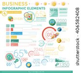 business infographic elements | Shutterstock .eps vector #406582408