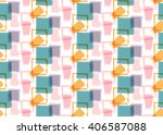 seamless pattern with water... | Shutterstock .eps vector #406587088