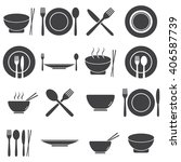 set of food and restaurant icons | Shutterstock .eps vector #406587739