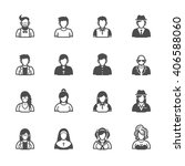 people icons with white... | Shutterstock .eps vector #406588060