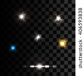 realistic lens flares beams and ... | Shutterstock .eps vector #406593838
