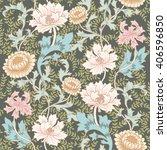 dark enchanted vintage flowers... | Shutterstock .eps vector #406596850