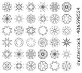 big set of 36 round ornaments ... | Shutterstock .eps vector #406598524