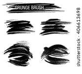 vector set of grunge brush... | Shutterstock .eps vector #406613698