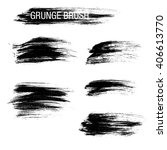 vector set of grunge brush... | Shutterstock .eps vector #406613770