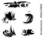 vector set of grunge brush... | Shutterstock .eps vector #406613800