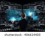 modern technologies in use | Shutterstock . vector #406614403