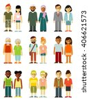people characters couple... | Shutterstock .eps vector #406621573