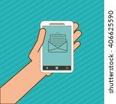 smartphone icon design   vector ... | Shutterstock .eps vector #406625590