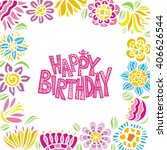 happy birthday greeting card... | Shutterstock .eps vector #406626544