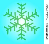 one snowflake on a green... | Shutterstock .eps vector #406627930