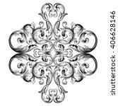 vintage baroque frame scroll... | Shutterstock .eps vector #406628146