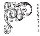 vintage baroque frame scroll... | Shutterstock .eps vector #406628218