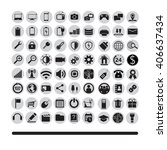 technology icons set computer ... | Shutterstock .eps vector #406637434