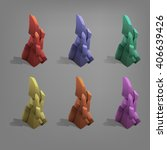 set of colorful stones. vector...